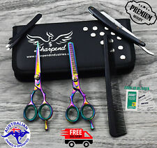 "Professional Barber Hairdressing Scissors Thinning & Hair Cutting Set 5.5"" Multi"