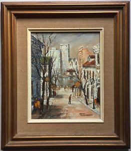 Claudia Forbes Woodgate(1925~2008)~original oil~Sunday Morning~The Rocks