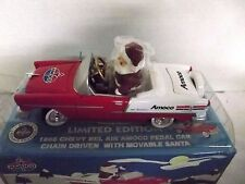 Amoco 1955 Bel Air Chevy Pedal Car Bank & Santa Driver Clearbox Collectible