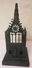 Delicate 19th Cen. Gothic Victorian Cast Iron Cathedral Votive Candle Holder