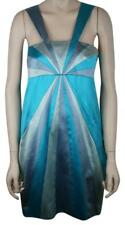 PUCCI SILK SATIN COCKTAIL DRESS AQUA SILVER LAVENDER SIZE 44/10, WORN ONCE, $3K