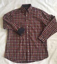 Charles Tyrwhitt Weekend Mens Button Front Shirt Medium Plaid Flannel Flip Cuff