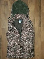 Patagonia Print Goose Down Womens Hood Puffer Vest XS