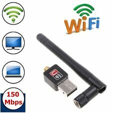 Portable 802.11N/G/B USB 2.0 WiFi Antenna Wireless Network LAN Card Adapter