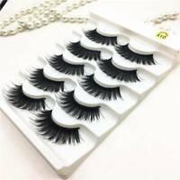5 Pairs Naturals Thick Cross Eye Lashes Extension Makeup Long False Eyelashe Set