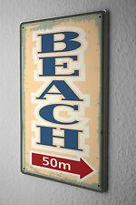 Tin Sign Retro Beach