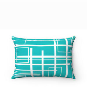 Outdoor Lumbar Pillow Cover- Mid Century Modern- Retro Style Mod Design