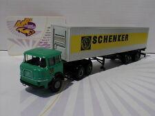 """Brekina 84123 # Krupp SF 380 mit Container Baujahr 1968 """" Schenker """" 1:87 NEU"""