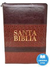Biblia Reina Valera 1960 Letra Gigante Piel Italiana De Lujo Con Cierre E Indice