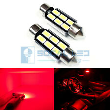2x 6418 36mm Festoon LED Bulbs 6W High Power Bright SMD 5730 Interior Map Light