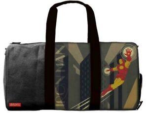 BB Designs Marvel Comics Iron Man Comic Duffle Travel Bag Retro Deco NEW