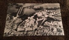 Vintage Postcard Unposted B&W Scalloped Edge Windsor Castle From The Air England