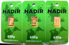 GOLDBARREN 3 Stück je 0,10 Gramm 999.9 Gold Barren 0,3g 0,30g NADIR LBMA NEU!!