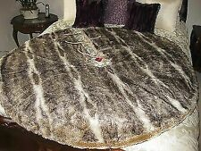 POTTERY BARN FAUX FUR OMBRE CARAMEL LARGE CHRISTMAS TREE SKIRT