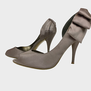 ATMOSPHERE Ladies Womens Shoes Size UK 8 EU 41 Beige D'Orsay Peeptoe Heels