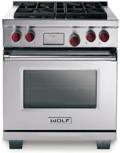 """*NEW* Wolf DF304 30"""" Pro-Style Dual-Fuel Range (Stainless Steel) *NEW*"""
