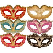 Childs / Kids Masquerade Ball Glitter Mask, Venetian Curved Eye Mask Fancy Dress