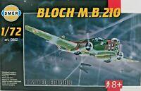 LIMITIERT!,SMER BLOCH MB 210,CCCR,SSSR,WW II,Bausatz 1:72,0852,117 Teile,OVP,NEU