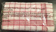 Waffle Woven Terry Dish Towel 15 Piece Set Burgundy NEW