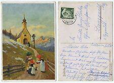 31899 - Fröhliche Ostern - Kinder vor der Kirche - AK, gelaufen Alling 20.4.1935