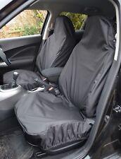FORD FIESTA MK7 (11+) HEAVY DUTY WATERPROOF BLACK CAR VAN SEAT COVERS PAIR 1+1