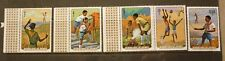 OLD BOY SCOUT GIRL GUIDE STAMP COLLECTION, GUINEA SET OF 5 MINT