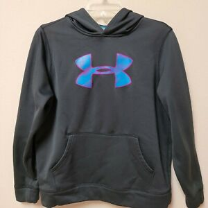 """Under Armour """"STORM"""" Dark Gray Long Sleeve Hoodie  Youth XL"""