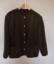 Giacca lana cotta donna verde 46 L cappotto loden