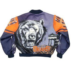 Vintage 90s Chalk Line Chicago Bears Satin Fanimation Bomber Jacket NFL X-Large