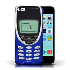 Stuff4 Hülle/Case für Apple iPhone 5C/Dunkelblau Nokia 8210/Vintage Handys