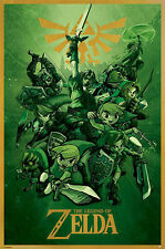 THE LEGEND OF ZELDA LINK GREEN POSTER (61x91cm)  PICTURE PRINT NEW ART