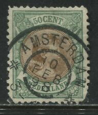 Netherlands 1896 50 cents emerald and yellow brown beautiful CDS used