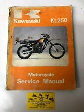 Used 1980-83 Kawasaki Kl250 Motorcycle Service Manual Oem 99924-1024-03 (Fits: Kawasaki)