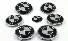 7PC BMW Emblem Carbon Fiber Emblem HOOD ORNAMENT BADGE SET E46 E60 E92 2 PIN