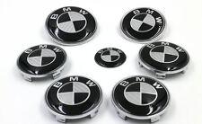 7PC BMW Emblem Carbon Fiber Emblem HOOD ORNAMENT BADGE SET E46 E60 E92 2 PIN