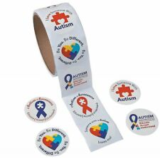 """Autism Awareness Roll Stickers (1 1/2"""") Paper. 100 pcs./roll"""