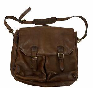 Timberland Genuine Italian Leather Messenger Crossbody Shoulder Bag