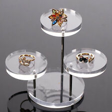 Clear Acrylic Necklace Earrings Jewelry Storage Holder Display Stand Rack US
