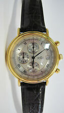 Phantastische 18 Karat vergoldete ROYAL 46596 Chronograph Herrenuhr Armbanduhr