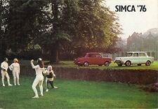 Simca 1975-76 UK Market Small Format Foldout Sales Brochure 1000 Mille 1100