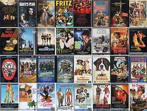 VHS Film-Komödie-Science Fiction-Thriller-Klassiker-FSK 0-16-Sammlung-Top Filme