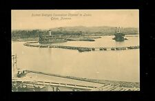 Early Postcard Suction Dredges  Excavating Channel to Gatun Locks Panama A7602