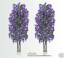 2 Wisteria 6.5' Real Wood Artificial Trees Potted 340VB