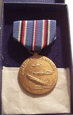 VINTAGE WW II U.S. Coast Guard American Campaign Medal in BOX