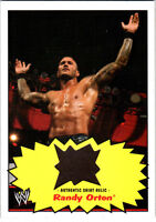 WWE Randy Orton 2012 Topps Heritage Authentic Event Worn Shirt Relic Card Brown