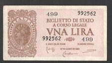 BANCONOTA Lire 1 LUOGOTENENZA ITALIA LAUREATA 1944