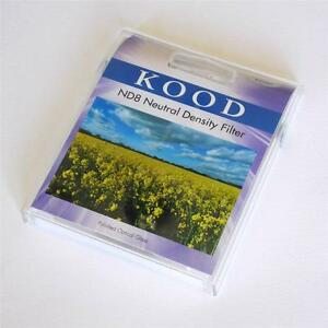 KOOD 82MM SLIM MOUNT ND8 OPTICAL GLASS NEUTRAL DENSITY FILTER