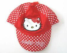 Schirm Mütze Gr.92 -110 Hello Kitty NEU 100% baumwolle rot punkte kinder sommer