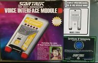 Star Trek Voice Interface Module - Model 21014, Cert. of Auth. Ser No. 3309 MINT