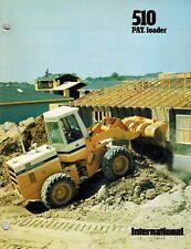 International Vintage 510 Payloader Specifications Brochure 1977